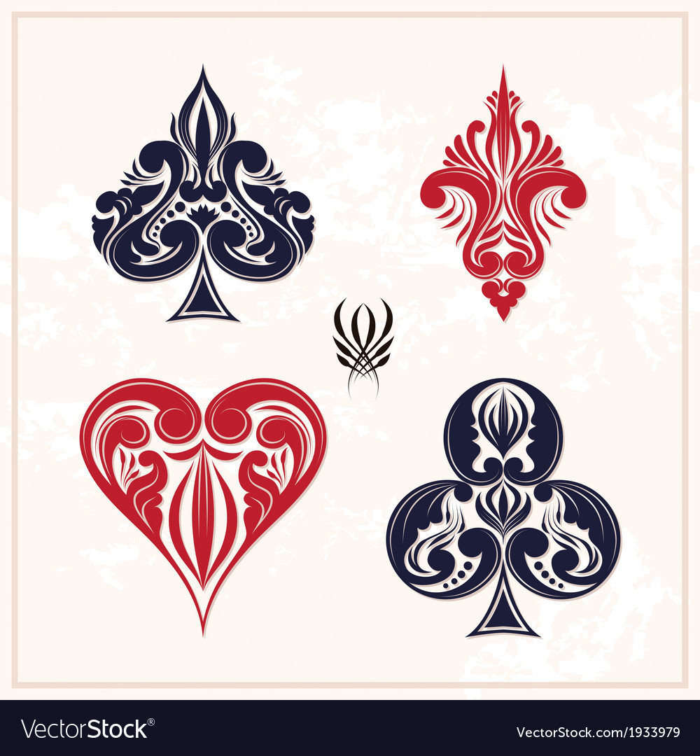Ornamental playing card vector