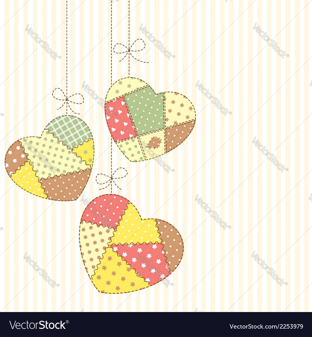 Romantic patchwork vector
