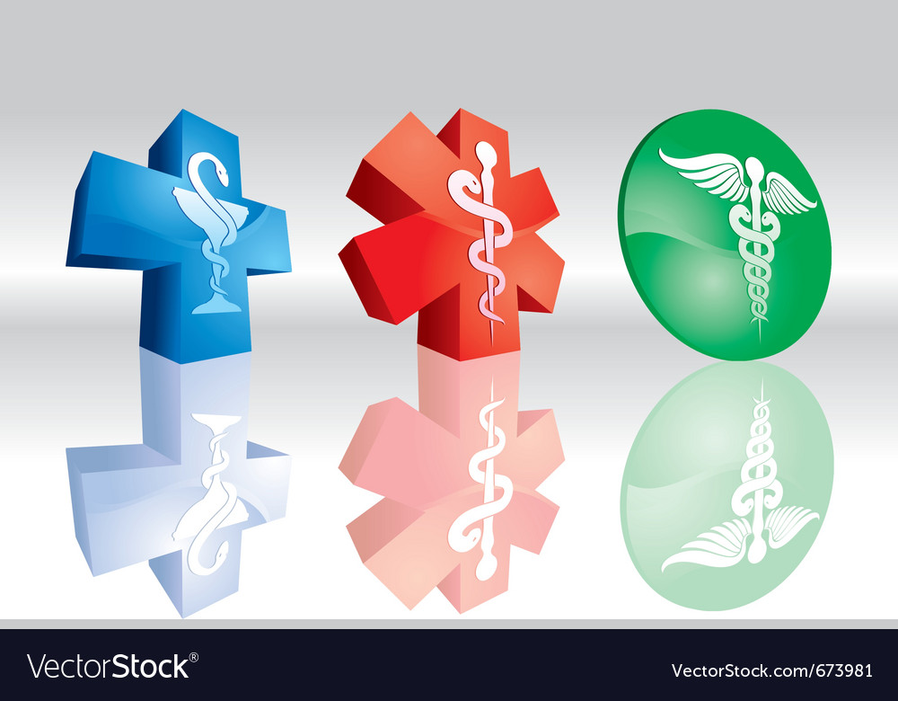 3d medical signs vector
