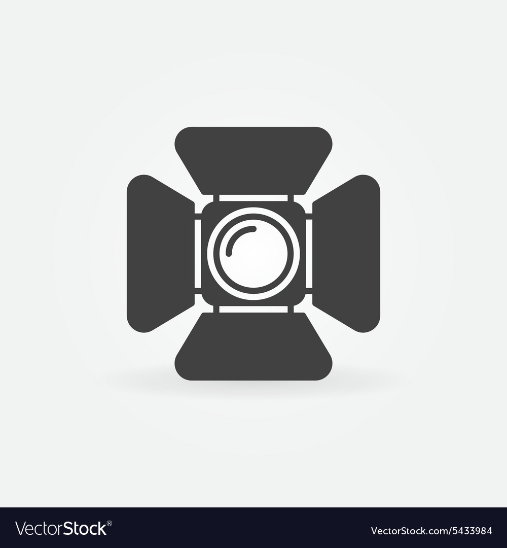 Spotlight logo or icon vector