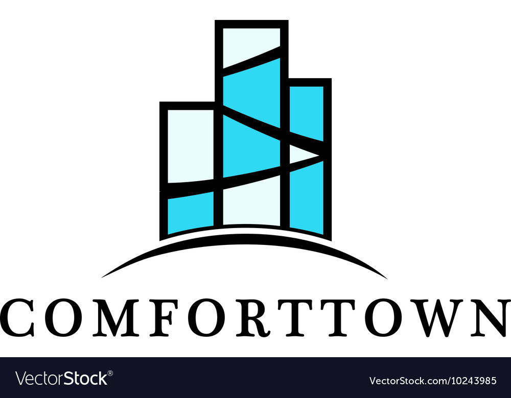 Isolated block of flats logo real estate vector