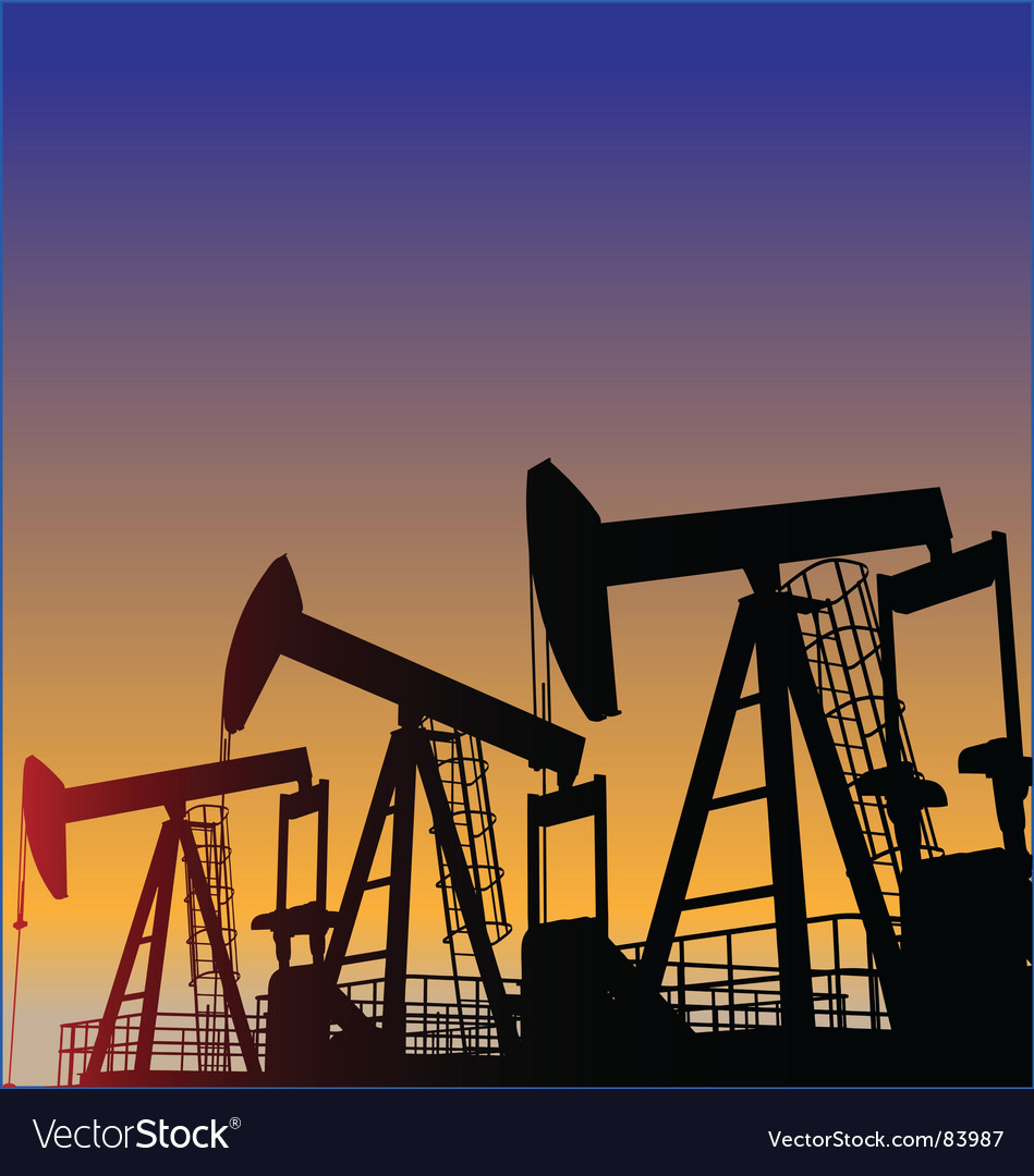 Oil wells vector