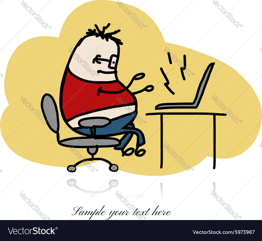 Programmer at work sketch for your design vector