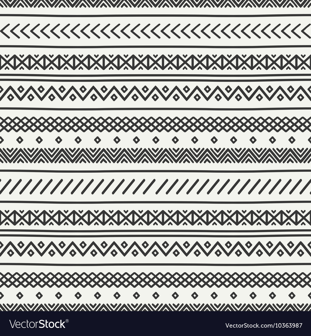 Tribal hand drawn line geometric mexican ethnic vector