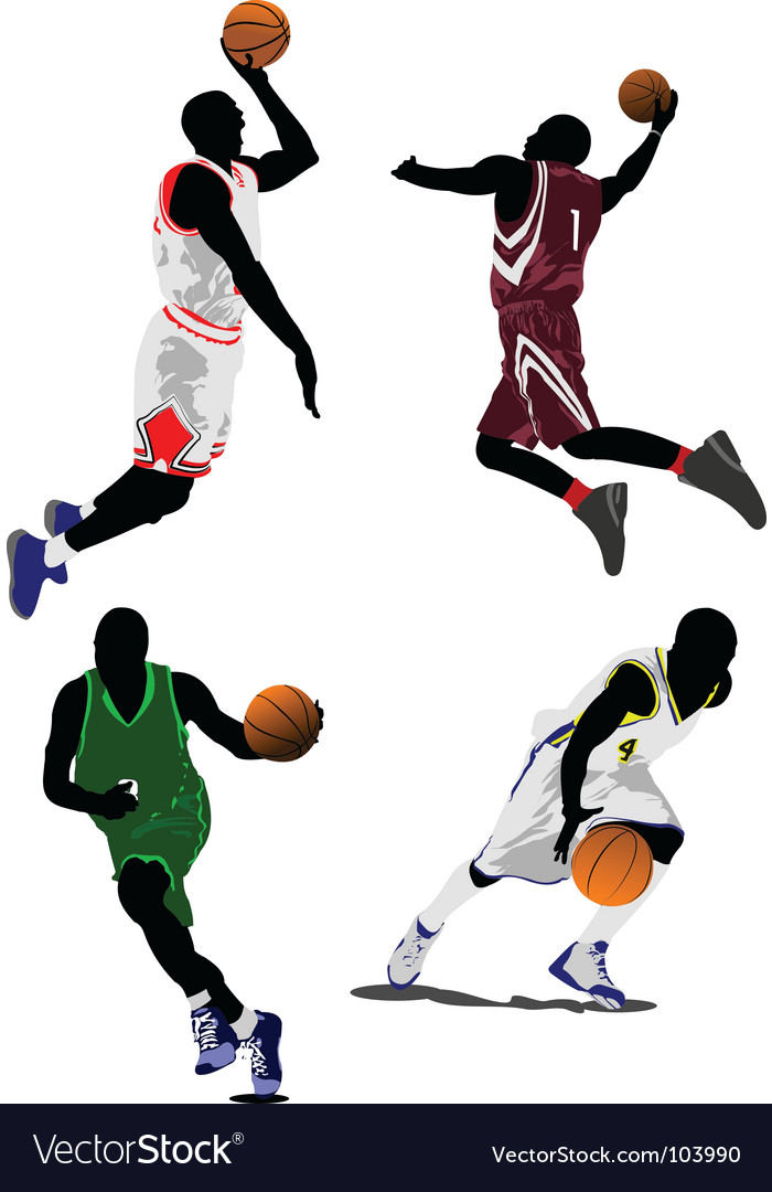 Baseketball players vector