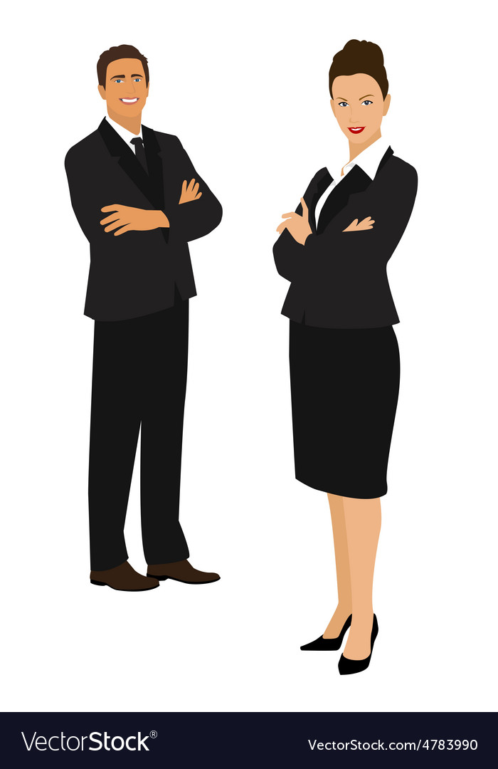 Businessman and businesswoman vector