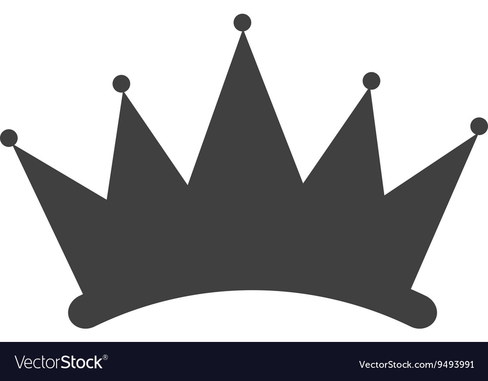 Simple crown silhouette vector