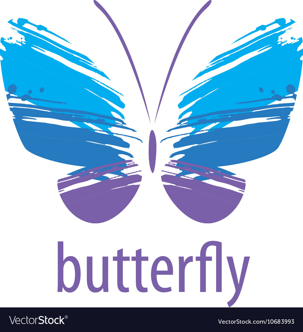 Butterfly logo vector