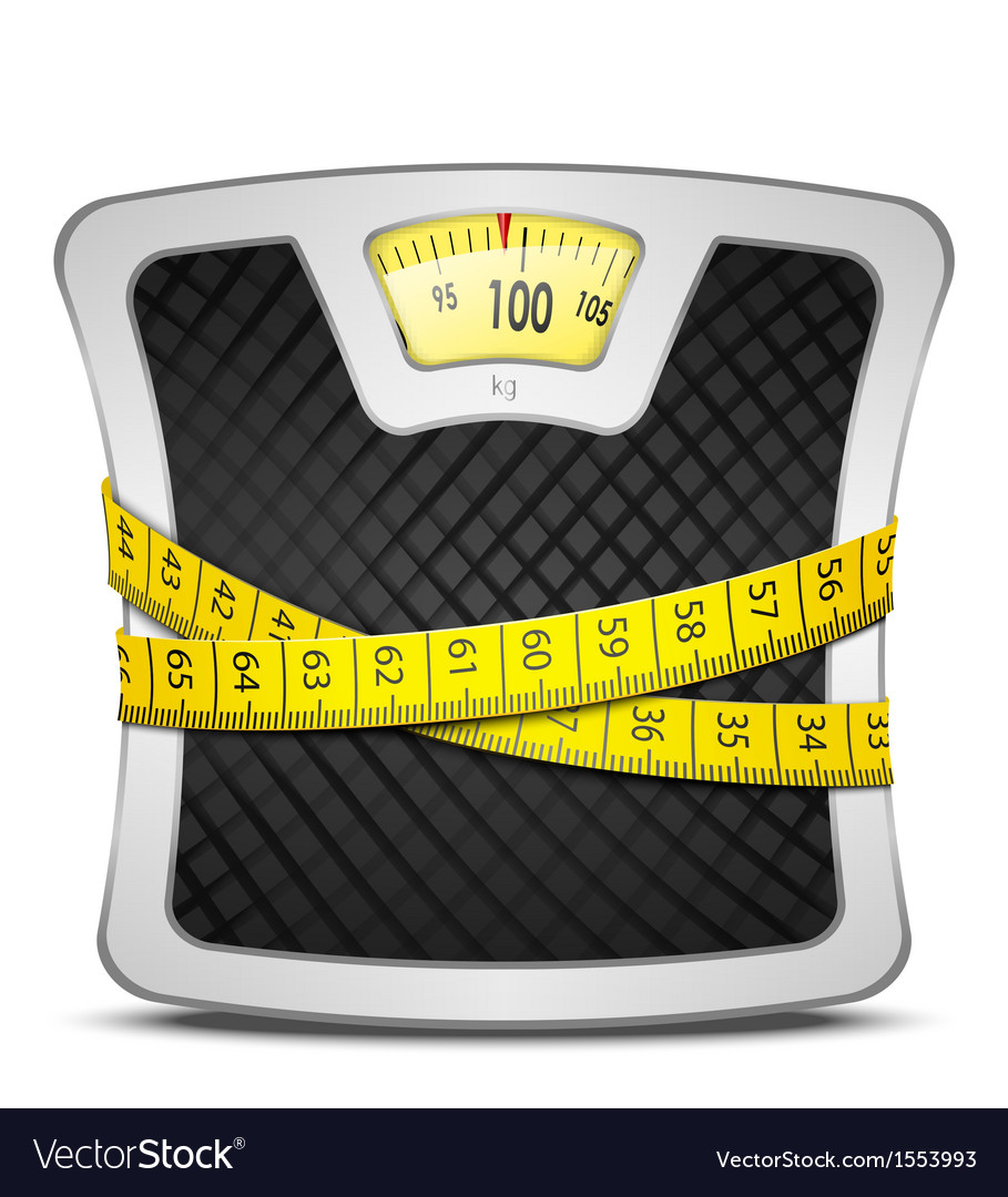 Scales diet concept vector