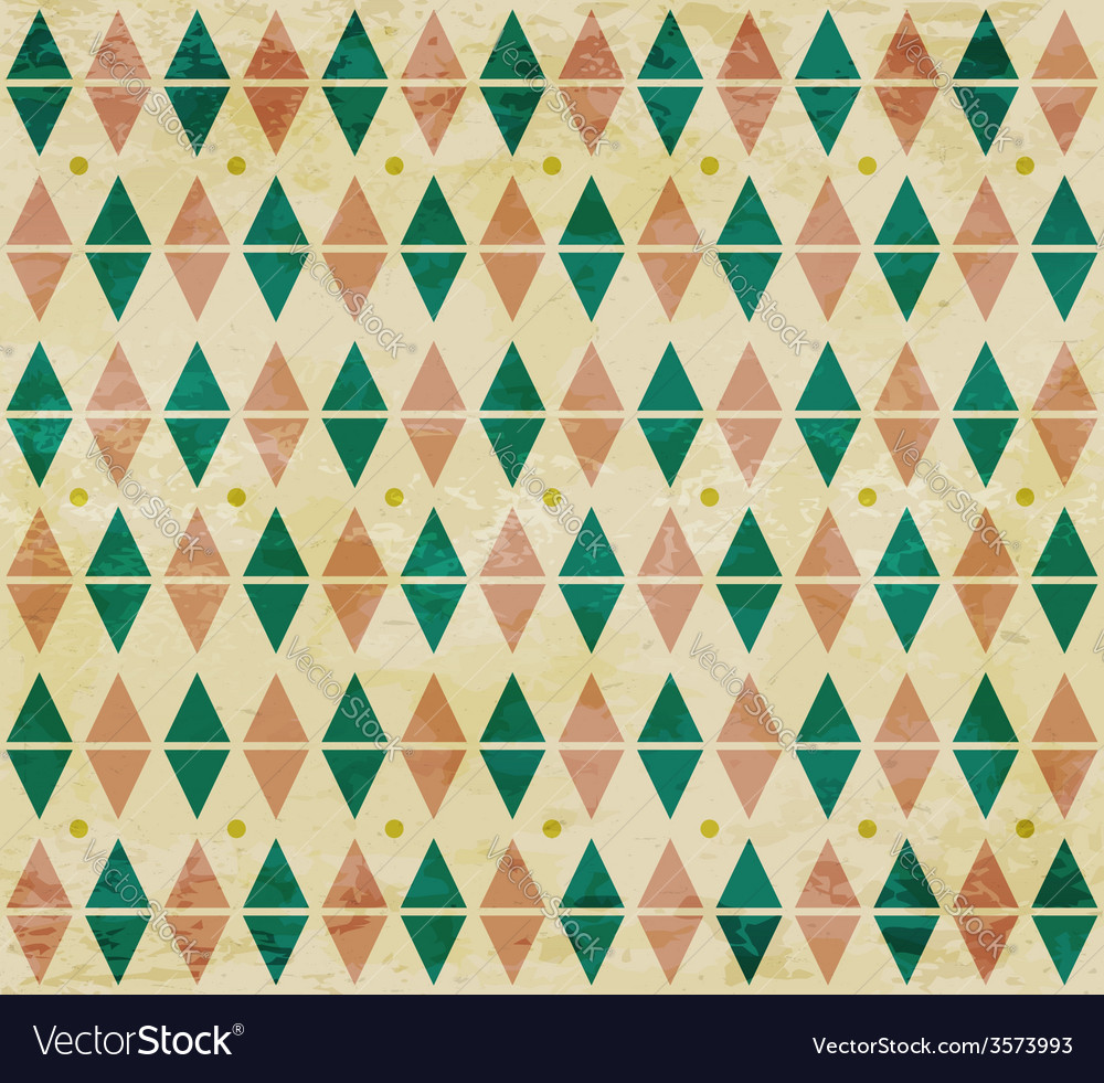 Seamless aged diamond pattern vector