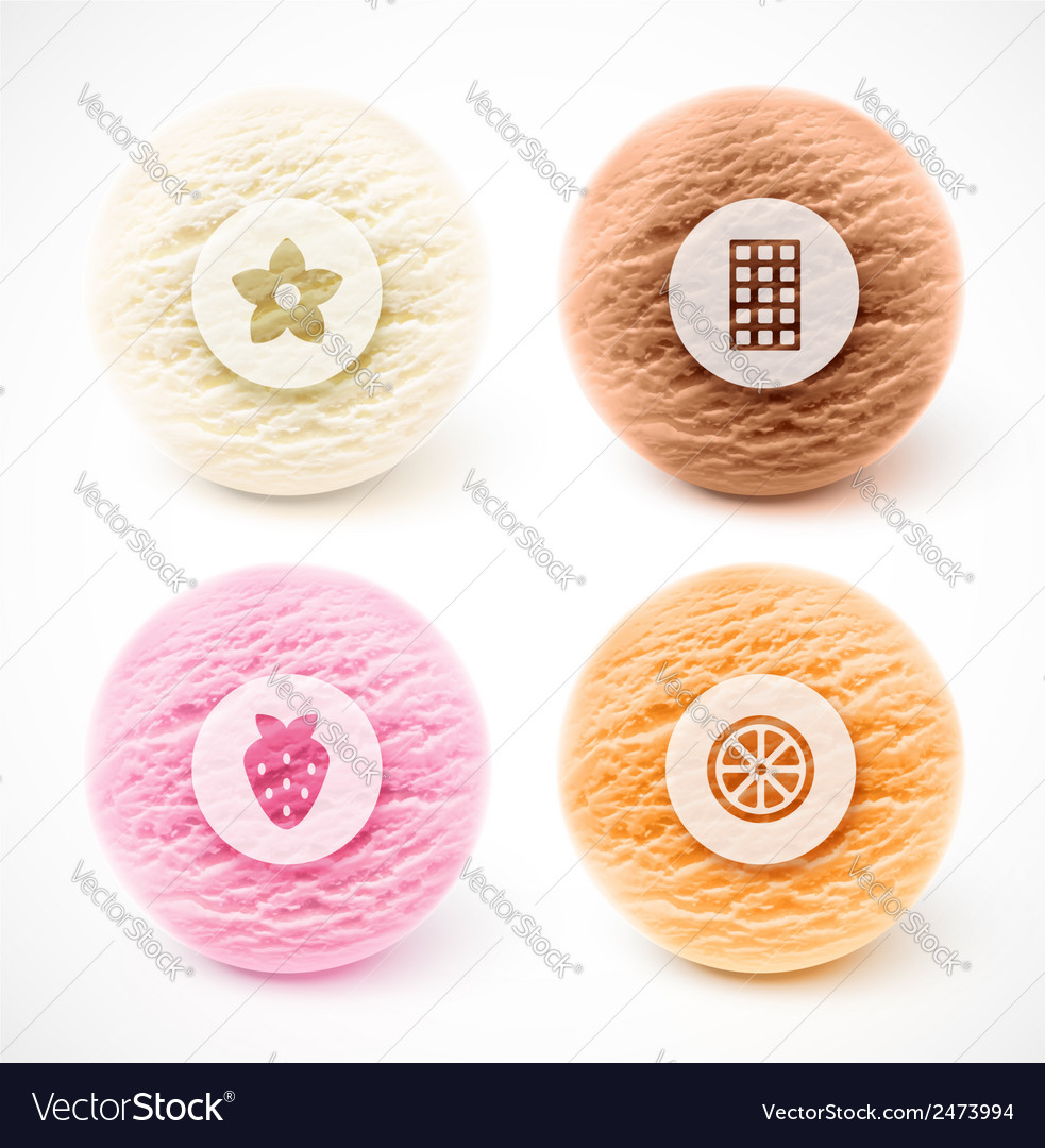 Scoop of ice cream vector