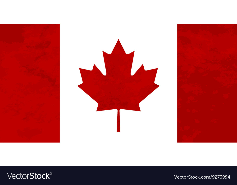 True proportions canada flag with texture vector