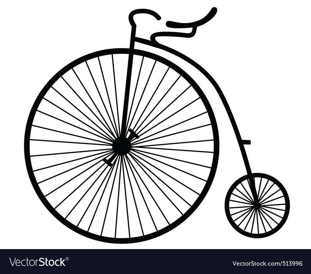 Old bicycle vector