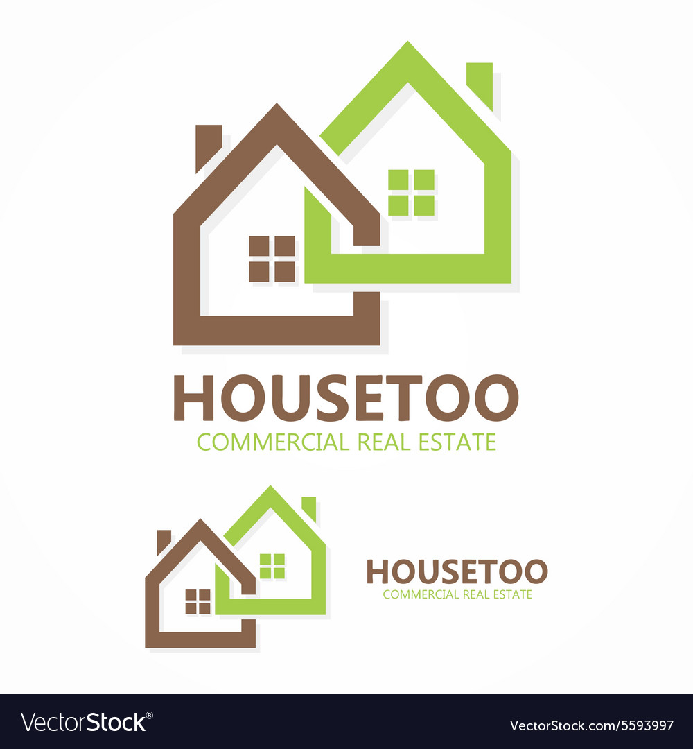 Real estate logo or icon vector