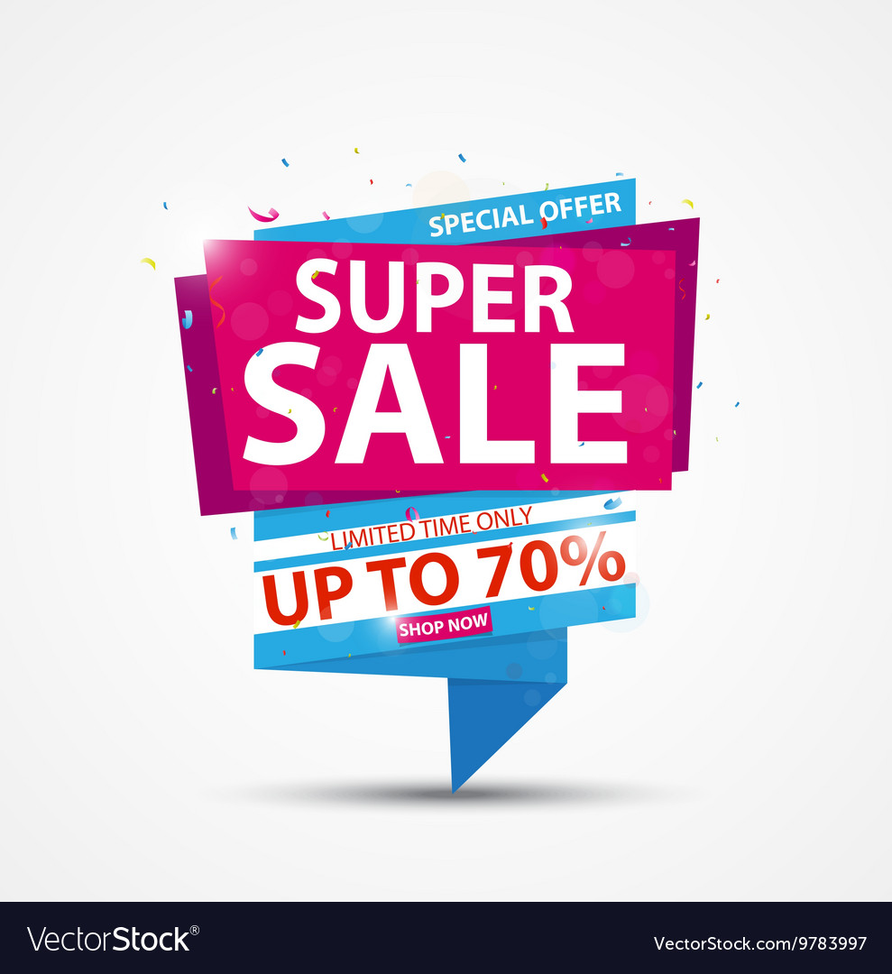 Super sale banner and best offer design vector