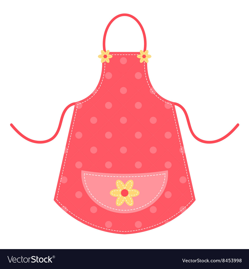 Cute red apron vector