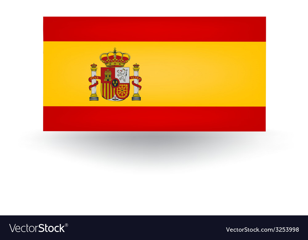 Spanish flag vector