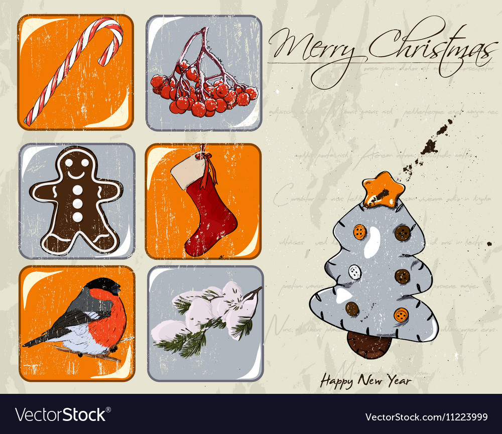 Christmas poster vector