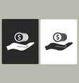 cash on hand - icon vector image