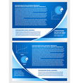 brochure folder info diagram design blue vector image vector image