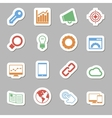 Seo Icons as Labes vector image