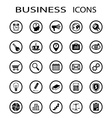 business icons Stock vector image vector image