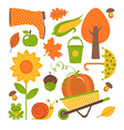 Autumn set vector image