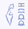 Colors of Israel vector image