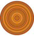 concentric pipes circular shape in multiple orange vector image