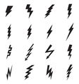 Lightning bolt icons vector image