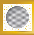 photo frame with golden splashes and transparent vector image
