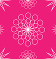 Seamless abstract stars on pink vector image