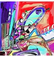 original of abstract art digital vector image vector image
