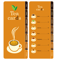 tea cards vector image vector image