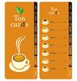 tea cards vector image