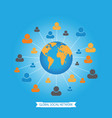 global social media network vector image