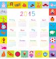 2015 Calendar frame with toys vector image