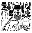 women accessorie vector image