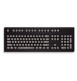 black keyboard isolated on a white background vector image