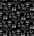 Seamless pattern background western cowboy vector image vector image