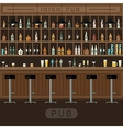 Bar interior with counter vector image