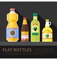 color flat kitchen bottle set vector image