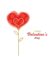 Decorative heart in the form of a flower vector image
