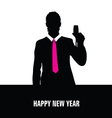 happy new year with man vector image