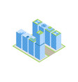 isometric city street with houses vector image