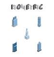 isometric construction set of urban cityscape vector image