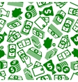 Money abundance and savings seamless pattern vector image