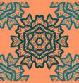 oriental ornament pattern in orange color vector image