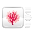Sea summer beach and travel icon with sea coral on vector image