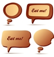 Chocolate speech and idea bubbles vector image